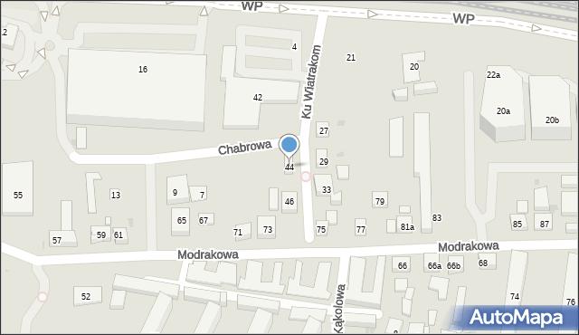 Bydgoszcz, Ku Wiatrakom, 44, mapa Bydgoszczy
