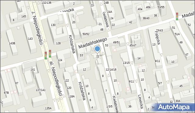 Warszawa, Kwiatowa, 11, mapa Warszawy