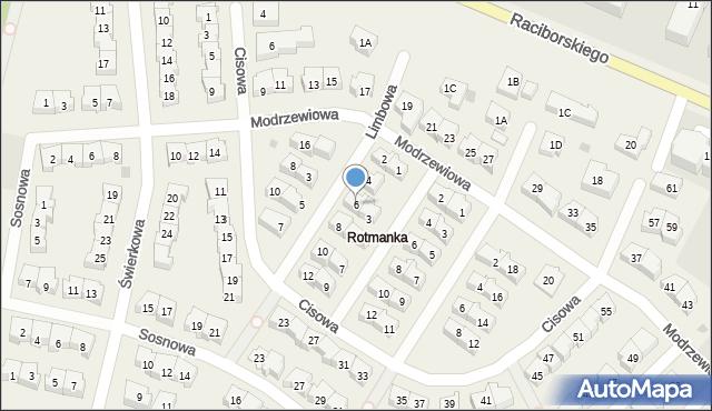 Rotmanka, Limbowa, 6, mapa Rotmanka