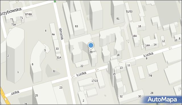 Warszawa, Łucka, 20, mapa Warszawy