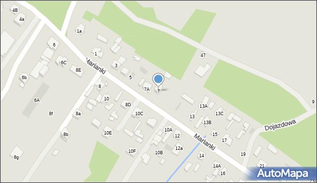Góra Kalwaria, Marianki, 7, mapa Góra Kalwaria