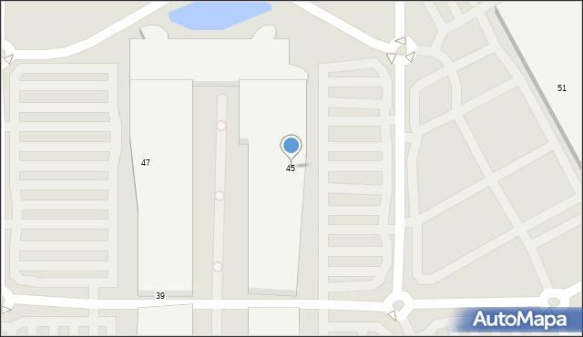 Warszawa, Malborska, 45, mapa Warszawy