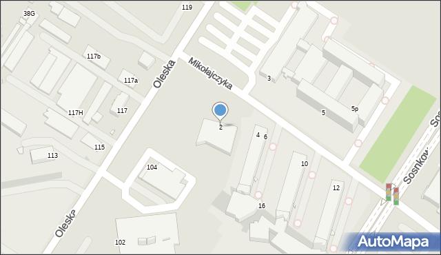 Opole, Mikołajczyka Stanisława, 2, mapa Opola