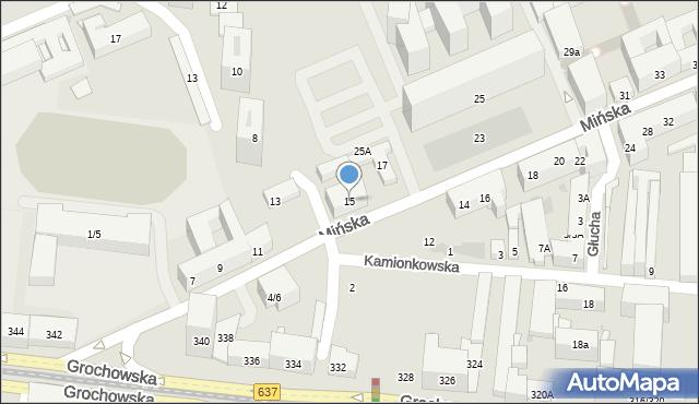 Warszawa, Mińska, 15/63, mapa Warszawy