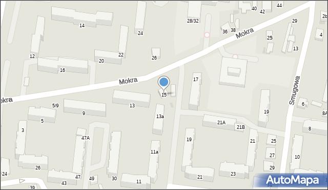 Pabianice, Mokra, 15, mapa Pabianic