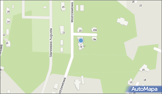 Ruda-Bugaj, Modrzewiowa, 6, mapa Ruda-Bugaj