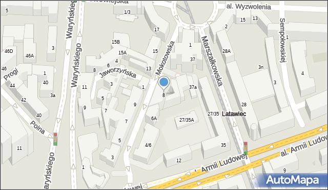 Warszawa, Mokotowska, 8, mapa Warszawy