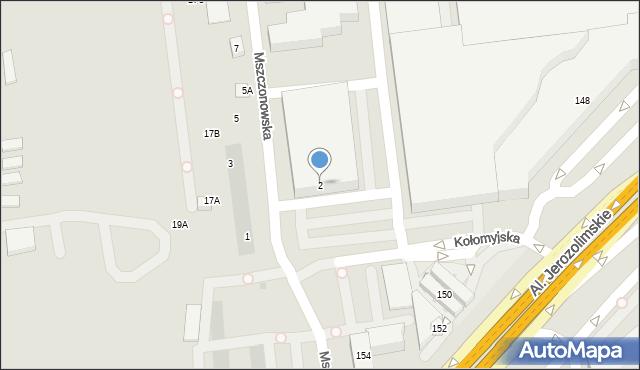 Warszawa, Mszczonowska, 2, mapa Warszawy