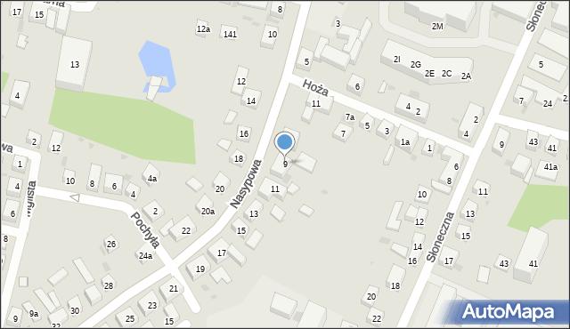 Bydgoszcz, Nasypowa, 9, mapa Bydgoszczy