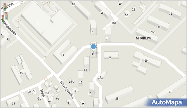 Nowy Sącz, Nawojowska, 11, mapa Nowego Sącza