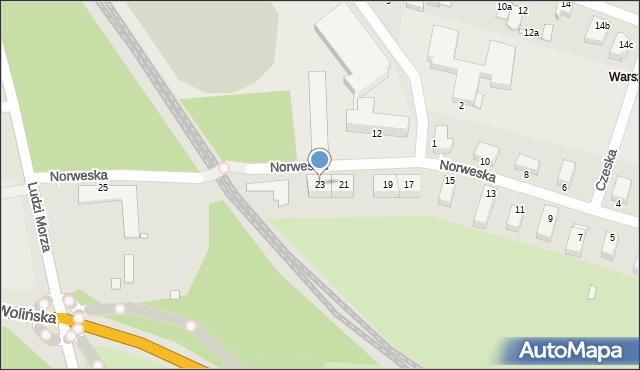Świnoujście, Norweska, 23, mapa Świnoujście