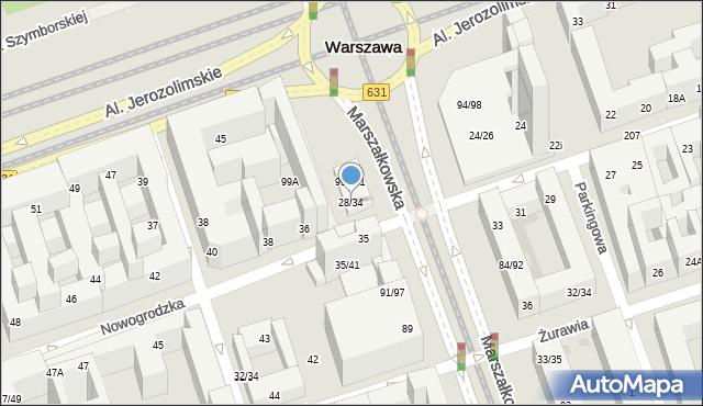 Warszawa, Nowogrodzka, 28/34, mapa Warszawy