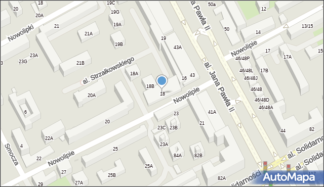 Warszawa, Nowolipie, 18, mapa Warszawy