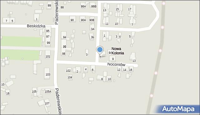 Zabrze, Noconiów, 7, mapa Zabrza