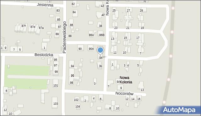 Zabrze, Nowa Kolonia, 3A, mapa Zabrza
