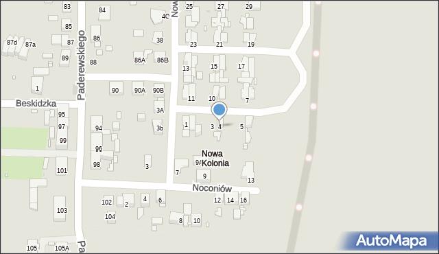 Zabrze, Nowa Kolonia, 4, mapa Zabrza