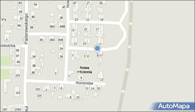 Zabrze, Nowa Kolonia, 5, mapa Zabrza