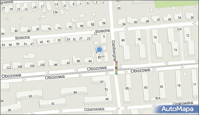 Warszawa, Obozowa, 82, mapa Warszawy