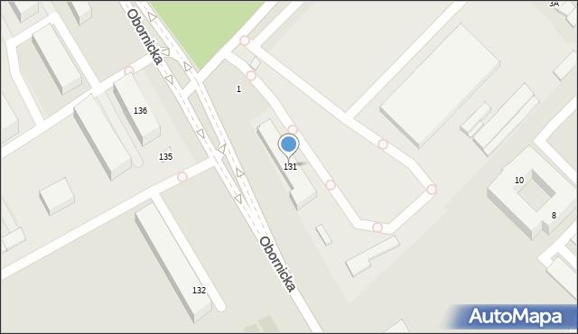 Wrocław, Obornicka, 131, mapa Wrocławia