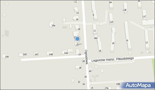 Siemiatycze, Ogrodowa, 22, mapa Siemiatycze