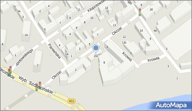 Warszawa, Okrzei Stefana, 2/4, mapa Warszawy