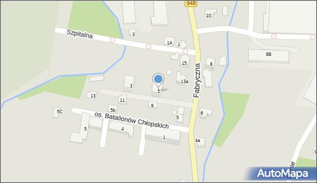 Kęty, Osiedle Batalionów Chłopskich, 2, mapa Kęty