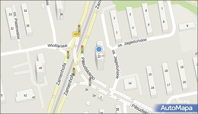 Poznań, Osiedle Jagiellońskie, 12, mapa Poznania