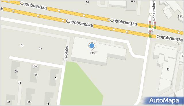 Warszawa, Ostrobramska, 73B, mapa Warszawy