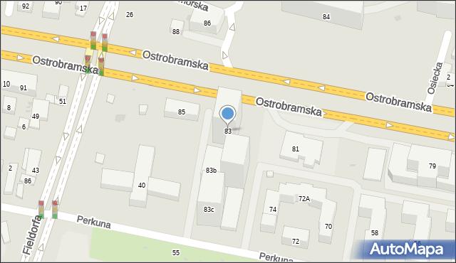Warszawa, Ostrobramska, 83, mapa Warszawy