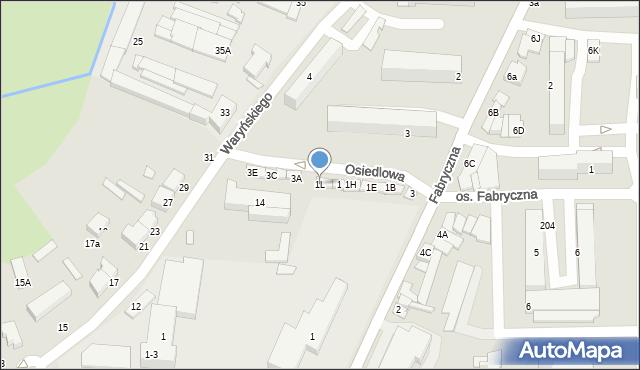 Wieruszów, Osiedlowa, 2, mapa Wieruszów