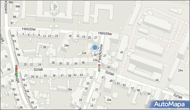 Kraków, Pędzichów, 24, mapa Krakowa