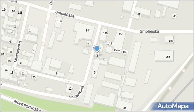 Bydgoszcz, Pińczowska, 3, mapa Bydgoszczy