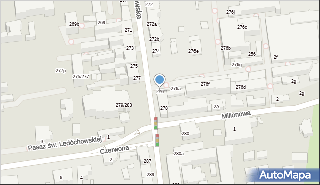 Łódź, Piotrkowska, 276, mapa Łodzi