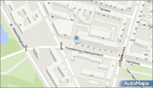 Poznań, Powstańców Wielkopolskich, 14, mapa Poznania