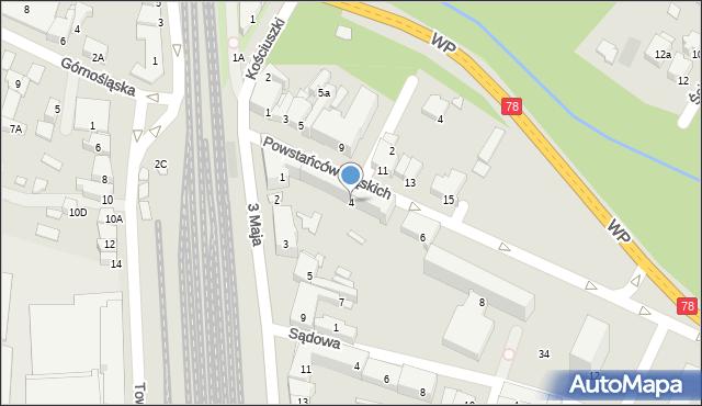 Zawiercie, Powstańców Śląskich, 4, mapa Zawiercie