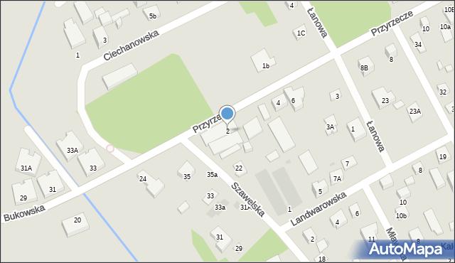 Warszawa, Przyrzecze, 2A, mapa Warszawy