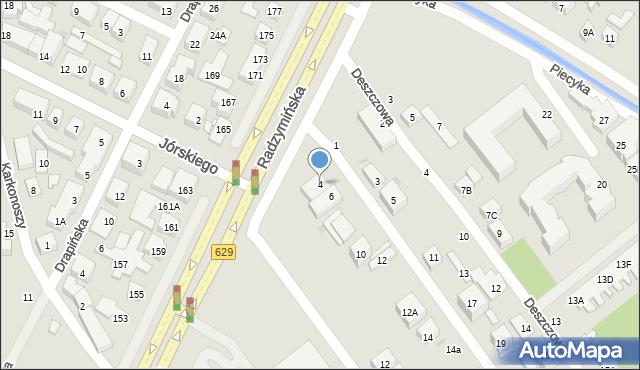 Warszawa, Promienna, 4, mapa Warszawy