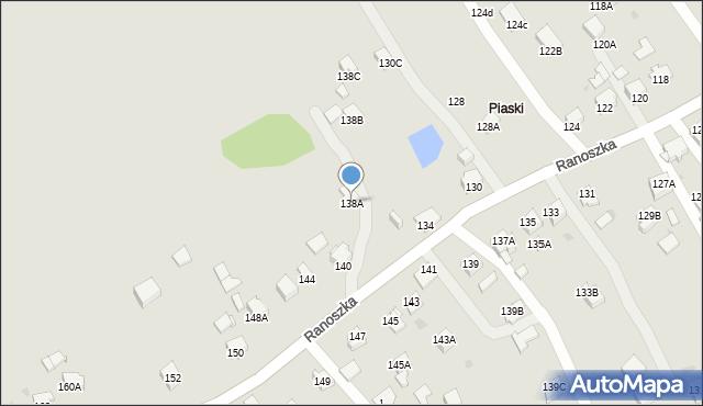Jastrzębie-Zdrój, Ranoszka R., prof., 138A, mapa Jastrzębie-Zdrój