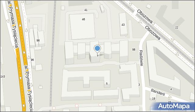 Warszawa, Radziwie, 7, mapa Warszawy