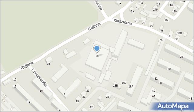 Nowy Sącz, Rejtana Tadeusza, 18, mapa Nowego Sącza