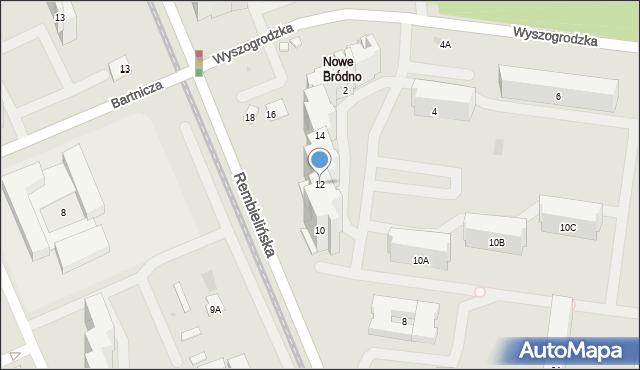 Warszawa, Rembielińska, 12, mapa Warszawy
