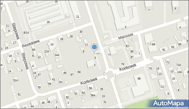 Warszawa, Rekrucka, 7, mapa Warszawy