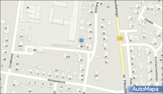 Rogoźno, Różana, 55, mapa Rogoźno
