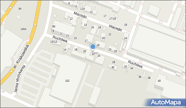 Warszawa, Ruchliwa, 22, mapa Warszawy