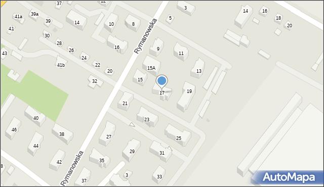 Rzeszów, Rymanowska, 17, mapa Rzeszów