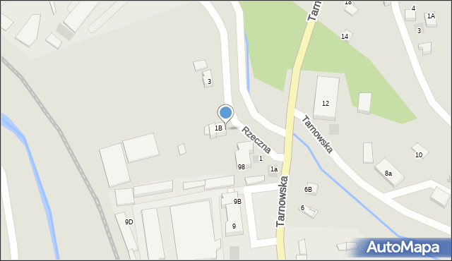 Limanowa, Rzeczna, 1c, mapa Limanowa