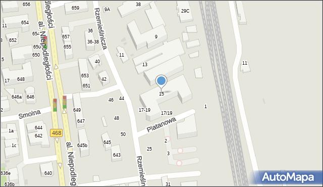 Sopot, Rzemieślnicza, 15, mapa Sopotu
