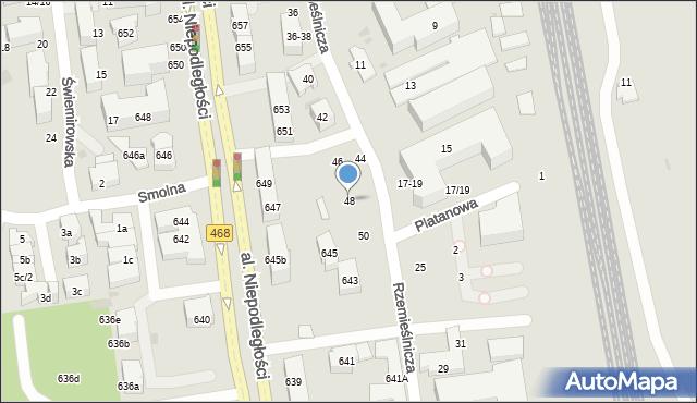 Sopot, Rzemieślnicza, 48, mapa Sopotu