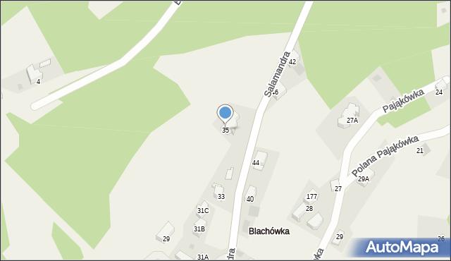Kościelisko, Salamandra, 35, mapa Kościelisko