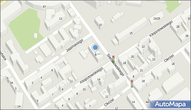 Warszawa, Sierakowskiego Józefa, 9, mapa Warszawy